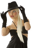 Blond with hat Stock Photos