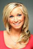 blond headshot ładna kobieta Fotografia Stock
