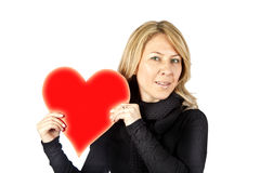 Blond with heart Stock Photos