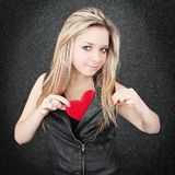 Blond and heart Stock Image