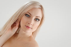 Blond heureux Photographie stock libre de droits
