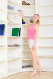 Blond at Homework Stock Images