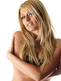 Blond hot model  Stock Photography