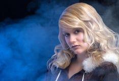 Blond ice woman Stock Photo