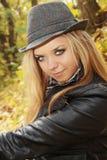 Blond im Hut Lizenzfreies Stockfoto