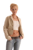 Blond Jacket6 Royalty Free Stock Photos