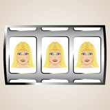 Blond jackpot Royalty Free Stock Image