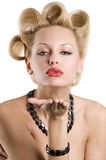 The blond with jewellery Royalty Free Stock Images