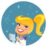 blond journalist Royaltyfri Foto