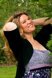 blond kędzierzawego dziewczyny włosy długi ładny ja target313_0_ Zdjęcie Royalty Free