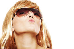 Blond kiss Royalty Free Stock Photos