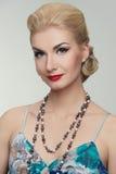 blond kolorowa smokingowa kobieta Zdjęcie Royalty Free