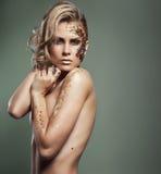 blond kvinna Arkivbild