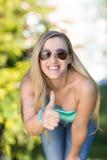 Blond kvinna Fotografering för Bildbyråer