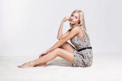 blond kvinna Royaltyfria Foton