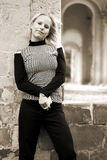 blond kvinna royaltyfri bild
