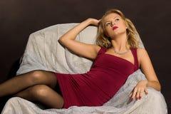 blond kvinna för skönhet Fotografering för Bildbyråer