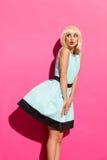 Blond kvinna oops Fotografering för Bildbyråer