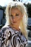 blond kvinnlig arkivbild