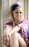 blond kvinnlig royaltyfri foto