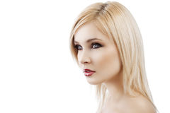 Blond lady with hair style Royalty Free Stock Image