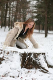 blond lasowa dziewczyna obraz royalty free