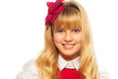 Blond le flicka Arkivbild