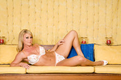 Blond in lingerie Royalty Free Stock Image