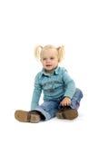 Blond Little Girl Stock Image