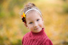 Blond little girl stock images