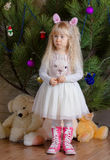Blond Little Girl Showing Sad Face Royalty Free Stock Photography