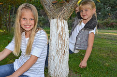Blond little girls Stock Photo