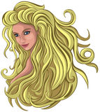 Blond with long hair Stock Image