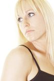 Blond looking back Stock Images