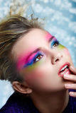 Blond with make-up Stock Photo
