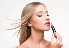 Blond makeup beauty. Royalty Free Stock Images
