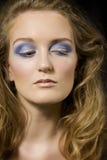 blond makeupmodell Arkivbild