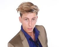 Blond male fashion model Royalty Free Stock Photos