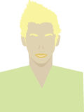 Blond male user interface avatar icon Royalty Free Stock Image