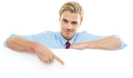 Blond man Stock Images