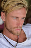 Blond man. Young man a blond boy with blue eyes Stock Images