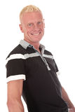 Blond man forties smiling Stock Images