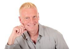 Blond man forties smiling Stock Photography