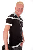 Blond man forties smiling Royalty Free Stock Photos