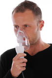 Inhalation at home Royalty Free Stock Photos