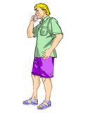 Blond man talking on cell phone Royalty Free Stock Photos