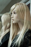 Blond mannequin in the showroom Royalty Free Stock Photo
