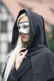 Blond in mask Royalty Free Stock Photos