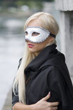 Blond with mask Stock Photo