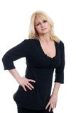 Blond mature woman with attitude Royalty Free Stock Photography
